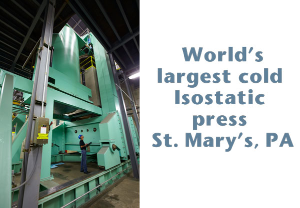 Mersen Introduces World's Largest Cold Isostatic Press